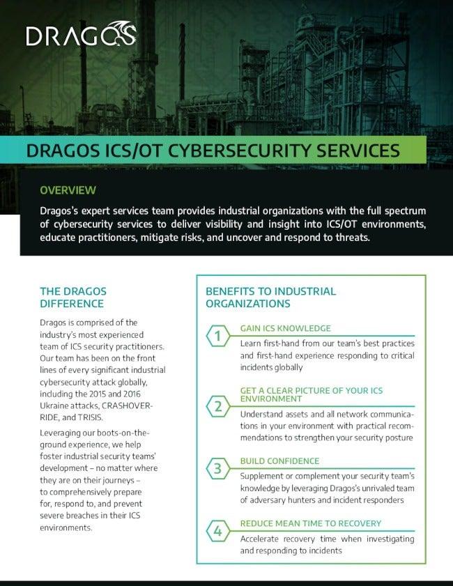 Dragos Professional Services Datasheet