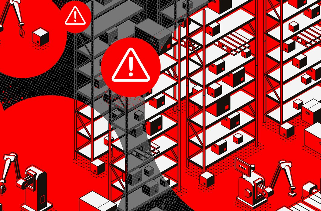 A graphic for a blog post cover with a red warning sign