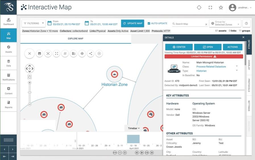 Dragos Platform Asset Map