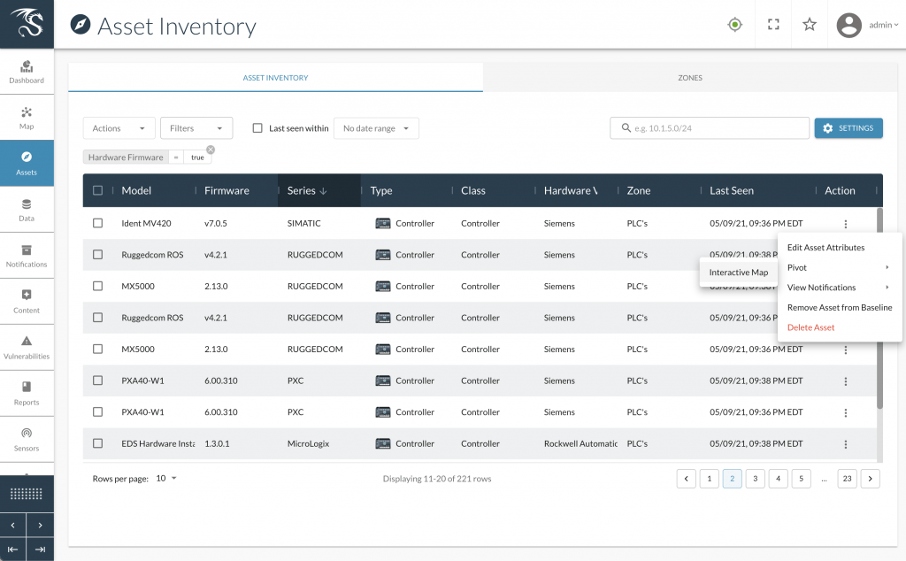 Dragos Platform Asset Inventory