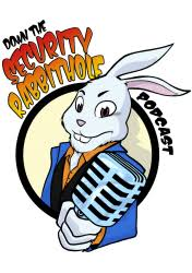 a logo for security rabbithole podcast