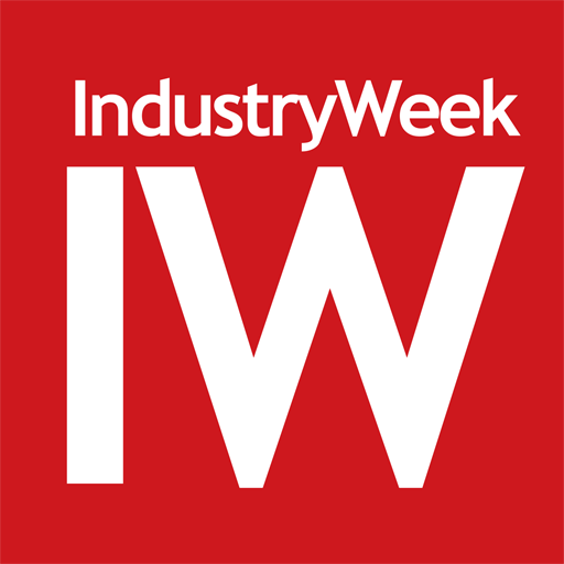 Industry Week Logo (white font on red background)