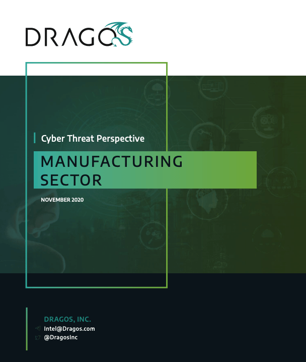Dragos Cyber Threat Perspective: Manufacturing Threat Perspectives Cover